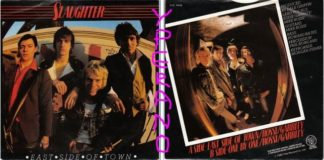 """SLAUGHTER: East side of Town 7"""" Punk Rock. Ex- Slaughter and The Dogs. B side a non-LP track.1980 s"""