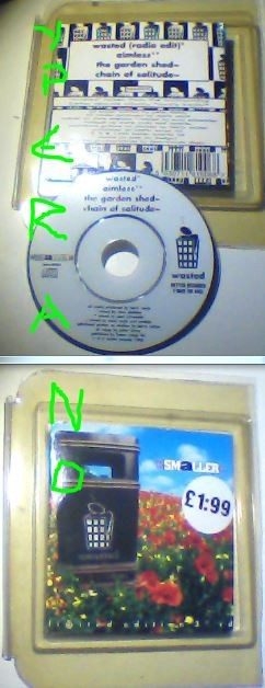 "SMALLER: Wasted CD 3"" Single UK 1996 RARE (with protective plastic case). Check video"