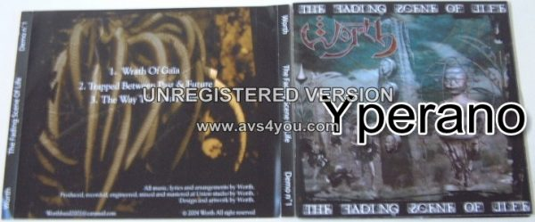 WORTH: The Fading Scene of Life CD.. Melodic Death Metal from Algeria (Algiers). FREE £0 for orders of £30+