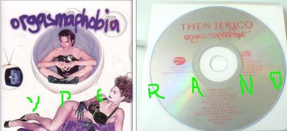 THEN JERICO: Orgasmaphobia CD Promo 1998. UK 12 song EAG012P. Check video