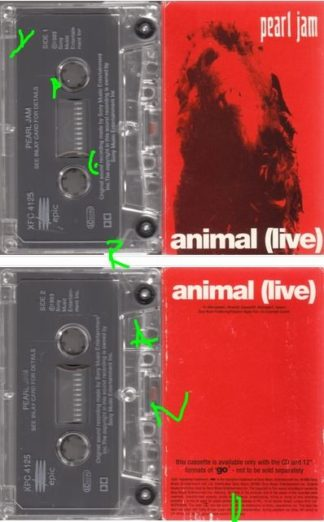 PEARL JAM: Animal (live) tape cassette. Free with the Go CD single UK. Check video