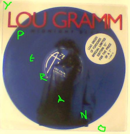 Lou GRAMM: Midnight Blue (Extended Remix) Limited 12