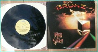 BRONZ: Taken by storm LP. Rare Italian version. Check videos. Max Bacon on Vocals. Classic!