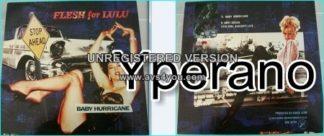 "Flesh For Lulu: Baby hurricane 12"" E.P vinyl. Sexy GOTH Rock / New York Dolls, Rolling Stones style. + IGGY POP COVER!!!"