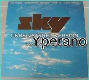 SKY: sky (s.t) LP. Classic Prog-Classical Chill out album by guitarist John Williams. Classical versus rock.