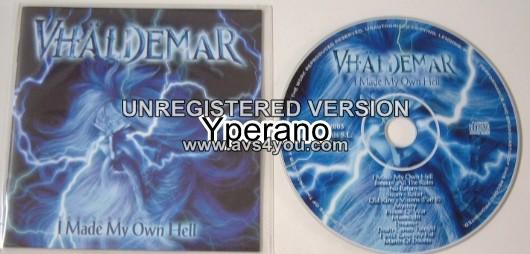 VHALDEMAR: I Made My Own Hell CD. Power Metaaaal!! Malmsteen, Rhapsody, Racer X. s.