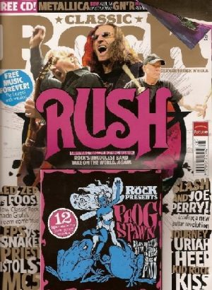CLASSIC ROCK magazine 122. August 2008. RUSH on cover. LED ZEPPELIN, FOO FIGHTERS, MC5, Def Leppard, Journey- + Prog CD