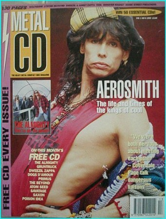 Metal CD vol 1 No 6 magazine. Metal CD 6 Aerosmith, Coverdale Page, The Almighty, Saxon, Tool, Death. Best ever UK mag.