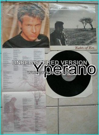 Corey HART: Fields Of Fire LP. Light A.O.R, NICE SONGS 5 singles Rare L.P Aquarius Rec.Canada. s + videos!