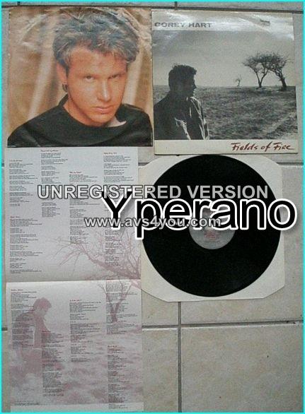 Corey HART: Fields Of Fire LP. Light A.O.R, NICE SONGS 5 singles Rare L.P Aquarius Rec.Canada. s + videos!