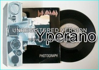 DEF LEPPARD: Photograph + Bringin' On The Heartbreak [500 only made!! Very, very rare Single VERP 5. Camera 3D Pop Up Pack] 7""