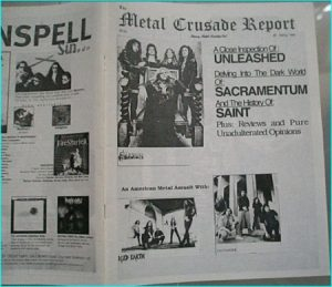 Metal Crusade magazine (1998) Saxon, Iced Earth, Jag Panzer, Unleashed, Sacramentum, the history of SAINT