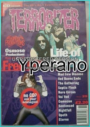 TERRORIZER 25. Nov. 1995. Life of Agony, Ved Buens Ende, The Gathering, Septic Flesh, VoiVod, Sentenced, Nightfall, Opeth