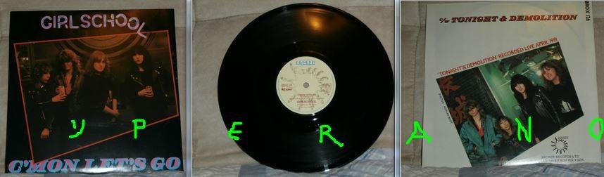 "GIRLSCHOOL: C'Mon Let's Go 10"" + Tonight (live) + Demolition (live). 1981 (3 songs). s + videos"