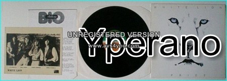 WHITE LION: Pride [Brilliant Hard Rock PROMO LP bio publicity promo picture] 3 videos