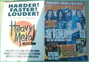 "KERRANG - No.480 WILDHEARTS, SOUNDGARDEN, THERAPY, Marillion, Carcass, TAD, Manic Street Preachers, Sepultura, Rio Rocks "" 8 pg"