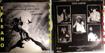 "METAL MIRROR: R'N'R Ain´t Never Gonna Leave Us. Ultra RARE N.W.O.B.H.M 7"" vinyl single (private release) 1980"