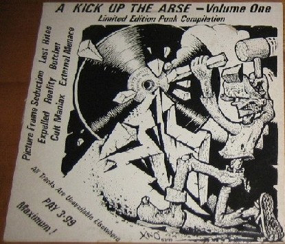 A Kick Up the Arse Volume One LP. Punk Limited Edition RARE Compilation. All tracks are unavailable elsewhere. Check all samples