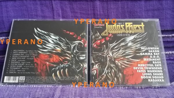 A Tribute to JUDAS PRIEST legends of Metal CD. Saxon, Mercyful Fate, Fates Warning, Gamma Ray, etc. s.