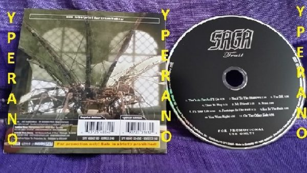 SAGA: Trust CD PROMO Inside Out Music 2006. Top Prog Rock. Check all songs