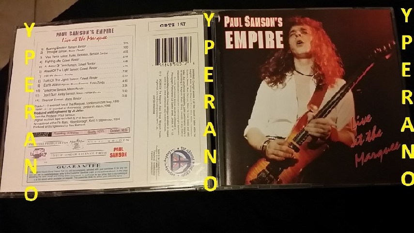 SAMSON: Live at the Marquee CD  1st press, Rare  PAUL SAMSON'S EMPIRE   absolutely raw, as recorded on the night  Check samples