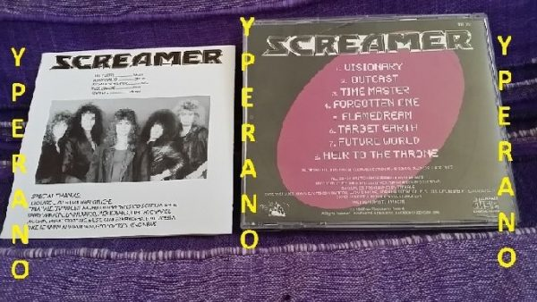 SCREAMER: Target Earth CD. Rare! True soaring HEAVY METAL. (early) Crimson Glory, Queensryche, Fates Warning. Check samples.