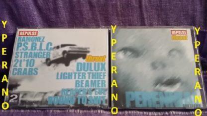 REPULSE: Throat & PERENNIAL: Shutdown. Split CD. Rare. METAL + HARDCORE. Check samples