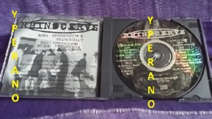 RHINOCERVS: Behind CD. ULTRA RARE / HARD TO FIND (mint condition). 12 songs. Dynamic rock - pop Metal from NYC 1996. Check video