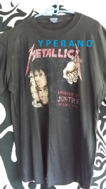 Metallica: Hammer of Justice Crushes you T-Shirt RARE! Original vintage