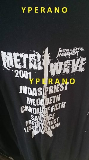 Metal Wave 2001 T-SHIRT: Judas Priest, Megadeth, Cradle of Filth, Savatage, Rotting Christ, Less than Human