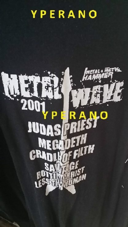 Metal Wave 2001 T-SHIRT: Judas Priest, Megadeth, Cradle of Filth, Savatage, Rotting Christ, Less than Human
