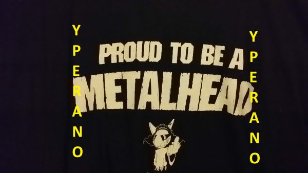 Proud to Be A Metalhead T-Shirt. XL size