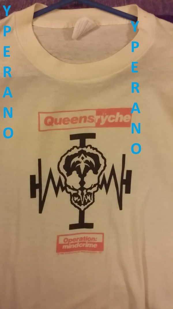Queensryche: Operation Mindcrime T-Shirt (Original Vintage Fan club)