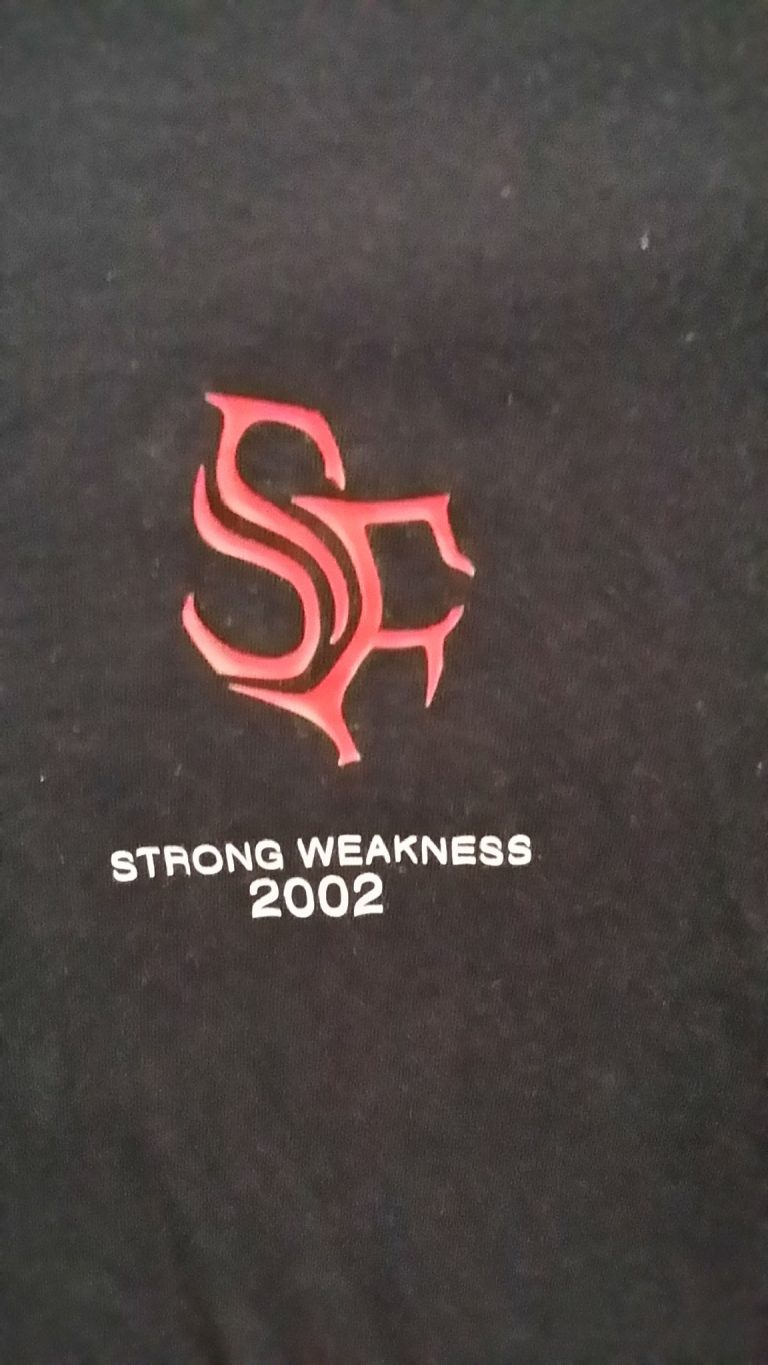 Semper Fi: Strong weakness T-Shirt. 2002 rare, limited. Norwegian Thrash Metal
