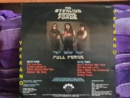 THE STERLING COOKE FORCE: Full Force LP. Ebony Records 1984. US Heavy Rock / Heavy Metal, Hendrix influence. Check audio