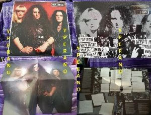 ROCK GODDESS: s.t, 1st, debut LP PROMO SIGNED, AUTOGRAPHED + big poster. Mint condition. Check videos