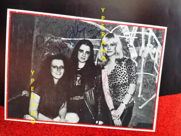 "ROCK GODDESS: Pre -Release album sampler 7"" SIGNED, AUTOGRAPHED, by all members! poster package. Flexi disc. N.W.O.B.H.M"