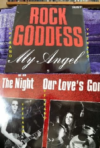 "ROCK GODDESS: My Angel 12"" SIGNED by Jody Turner (guitarist / singer) check Video"