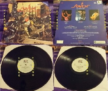 RAVEN: Rock Until You Drop LP. Contains 2 extra songs. In near MINT condition. RARE RC Revisited. N.W.O.B.H.M