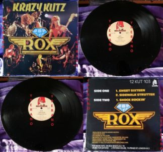"""ROX: Krazy Kutz 12"""" Great NWOBHM 1983 on Music For Nations. Check audio"""