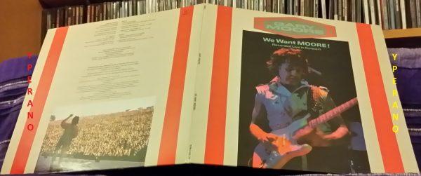 GARY MOORE: ŽWe Want Moore LP Double, 2 vinyl Live gatefold UK.