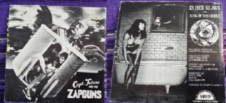 "Capt. Future and the ZAPGUNS: In her Klaws 7"" + King of the Orient. Sexy back cover. Check audio"