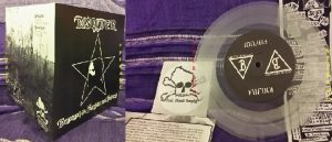 "DISCIDER: Drinking to forget the future 7"" Clear vinyl. 300 copies. 4 songs. Check audio. Crusty H.C punk"