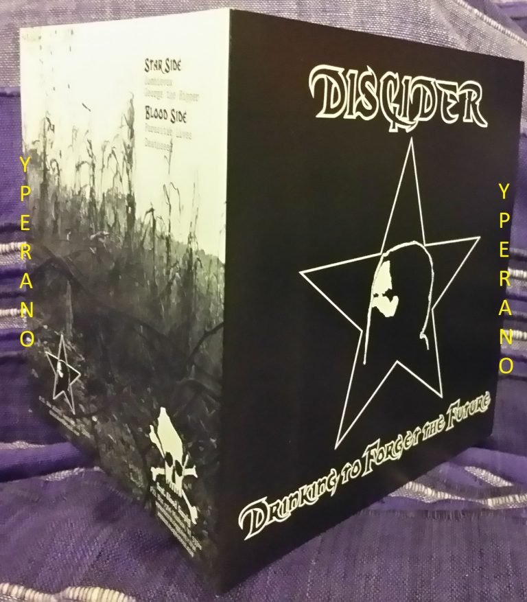 """DISCIDER: Drinking to forget the future 7"""" Clear vinyl. 300 copies. 4 songs. Check audio. Crusty H.C punk"""