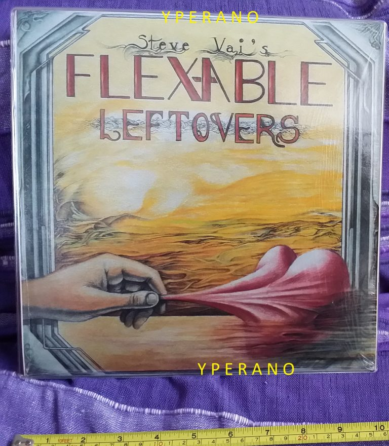 "Steve VAI: Flex-Able Leftovers 10"" limited to 1000 copies 1984 AKASHIC Records + lyric insert (Steve Vai Newsletter 1)"