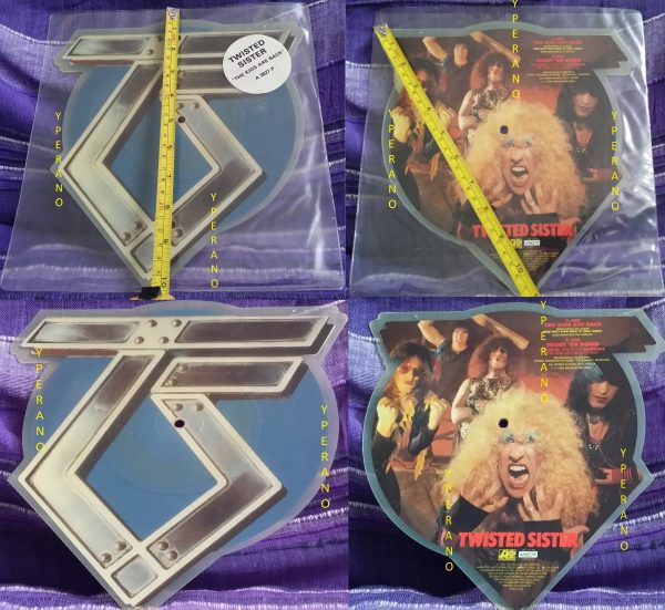 """TWISTED SISTER: The kids are Back 10"""" RARE shaped PICTURE DISC Ltd edition UK + Shoot em Down (live '83) Check vids"""
