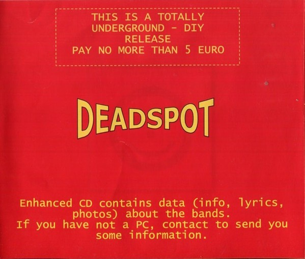 Deadspot compilation CD Rare Metal, Punk, Death core compilation Hellas (Greece). 19 bands. Check audio