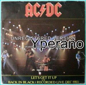 "AC/DC: Let's Get It Up 7"" + Back In Black (Recorded Live on '81). Check video"