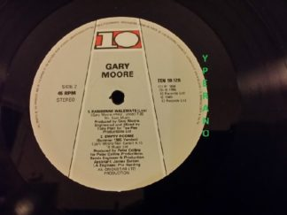 "GARY MOORE: Empty Rooms 12"" Plain white die-cut sleeve. Different songs & live + 85 version. 4 songs. Free £0 for orders of £45+"