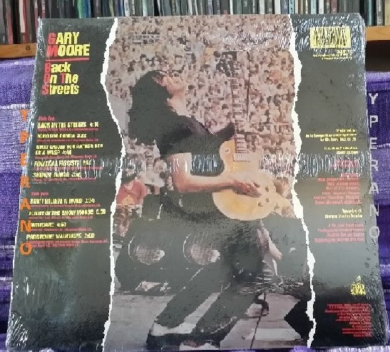 Gary Moore Back On The Streets Lp Slam 10 With Phil